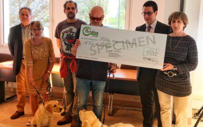 Remise de chèque – Fondation Partélios