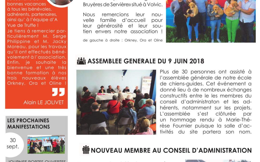 Newsletter n° 18 – Juillet 2018