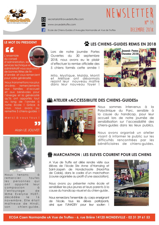 Newsletter n°19 – Décembre 2018