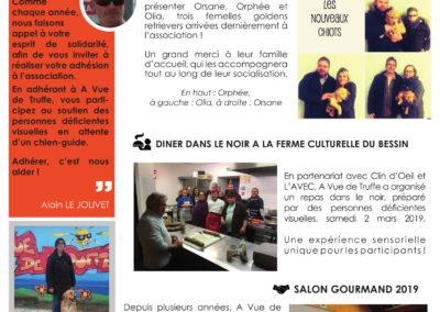Newsletter n°20 – Mars 2019