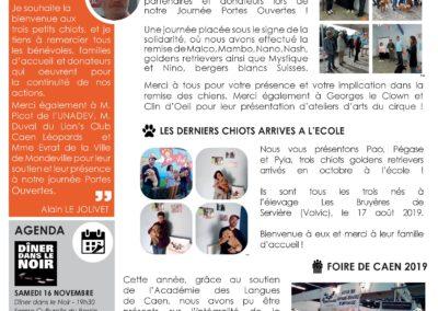 Newsletter n°22 – Novembre 2019