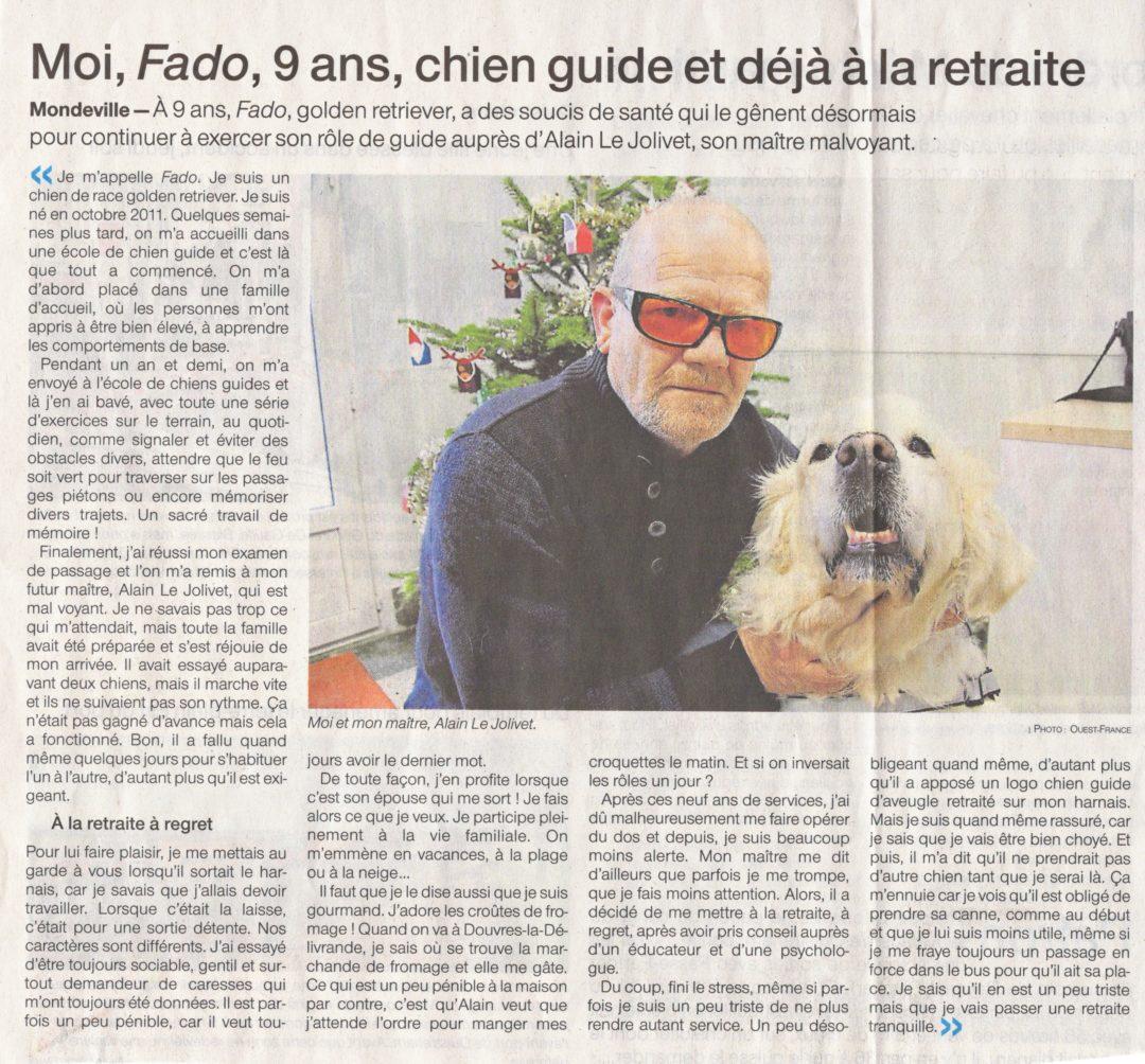 Moi, Fado, 9 ans, retraité